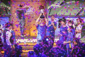 Students celebrate winning the 2019 League of Legends College Championship
