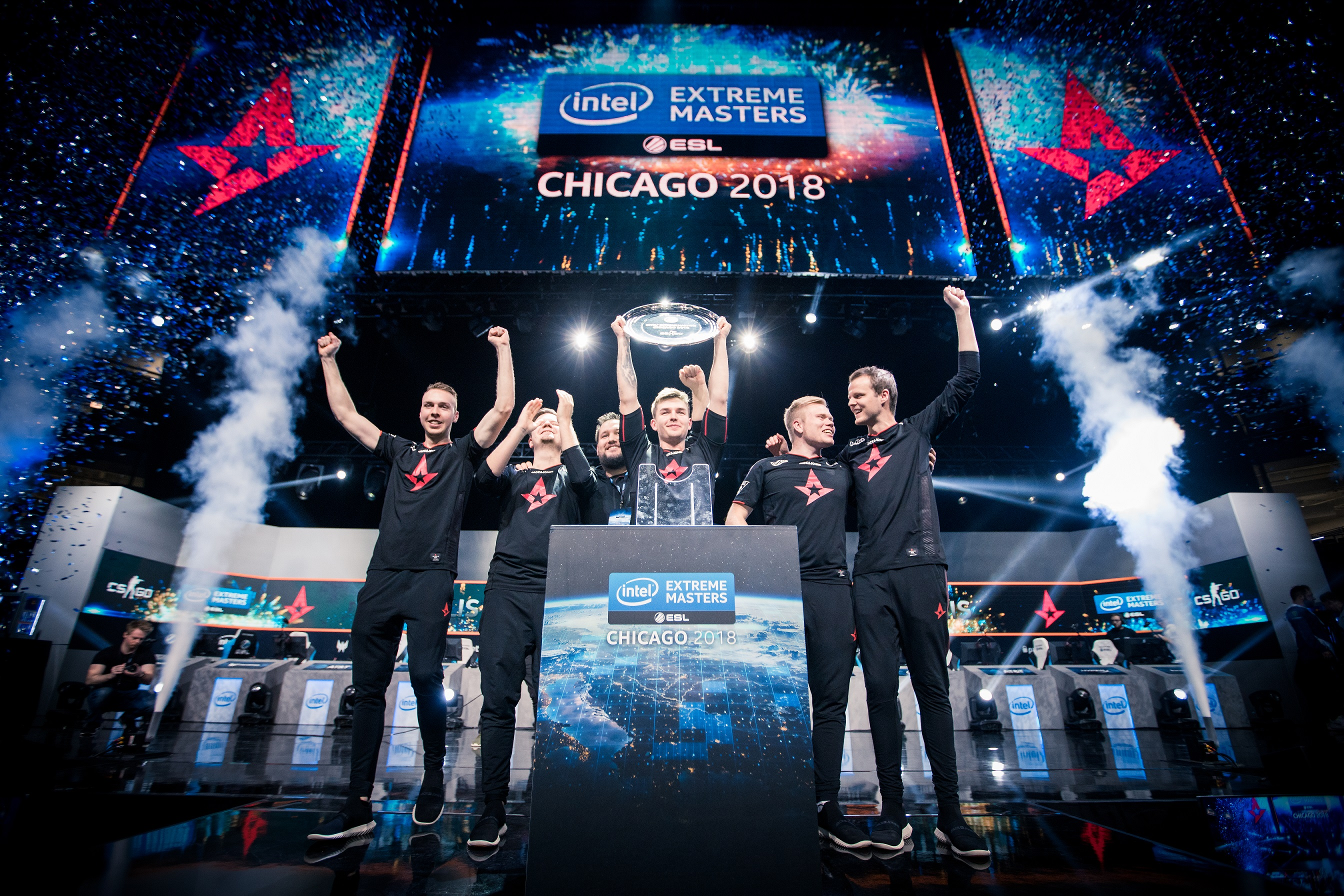 Astralis winning IEM Chicago 2018.