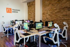 Room of computers to be used for esports training.