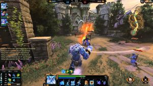 player using first person perspective to play Smite.