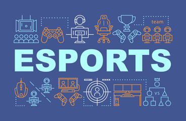 "collection of gaming consoles surrounding the word ""esports""."