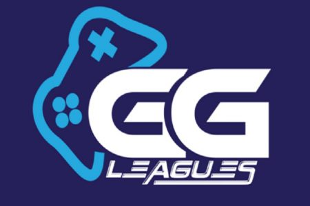 GGLeagues logo - blue gaming controller behind two large G's