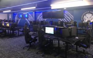 Northwood University esports facility full of gaming computers.